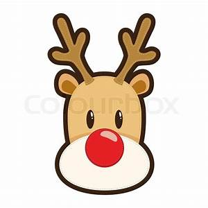 Vector illustration of Rudolph the red nosed reindeer