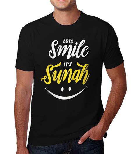 jual kaos islam lets smile its sunah islami muslim ramadhan lebaran s m l xl di lapak ekaos