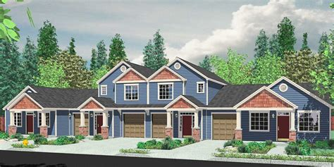 house plans sale fourplex plex quadplex plans bruinier associates
