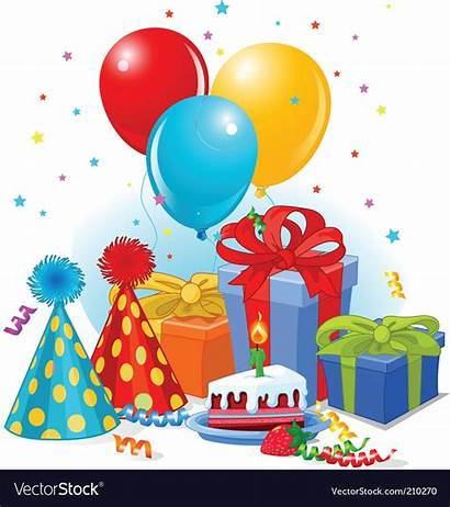 Birthday Decorations Vector Party Royalty