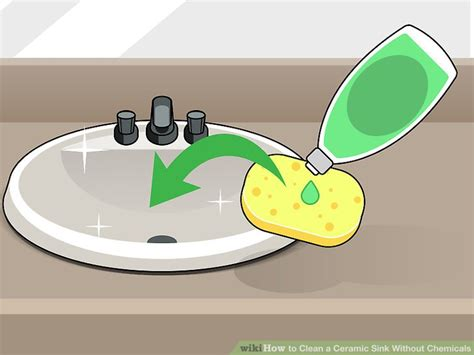 how to clean a ceramic kitchen sink 3 ways to clean a ceramic sink without chemicals wikihow 9318