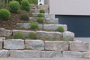 Naturstein Im Garten : natursteinmauer aus muschelkalk garden garten stufen ~ A.2002-acura-tl-radio.info Haus und Dekorationen