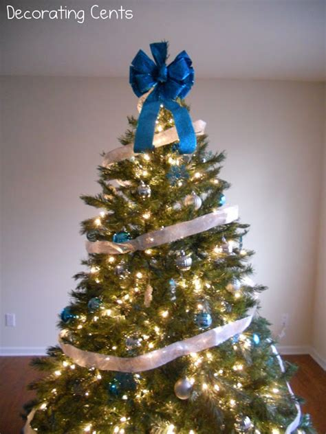 blue and gold christmas trees blue and silver tree