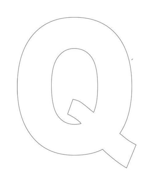 alphabet letter template pre k letter q