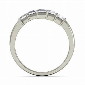 perfect 5 stone princess wedding ring band in white gold With perfect wedding ring