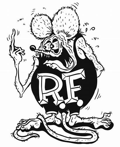 Rat Fink Coloring Pages Roth Ed Clipart