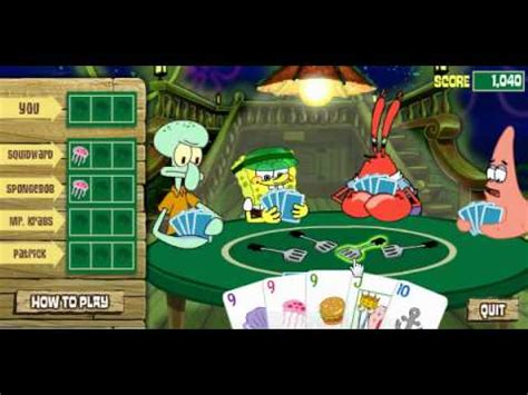 Spongebob Deck Drawdown by Spongebob 3 Deck Draw