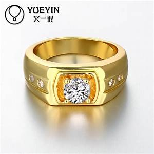 newest trendy male jewelry crystal rings wedding korean With mens 24k gold wedding ring