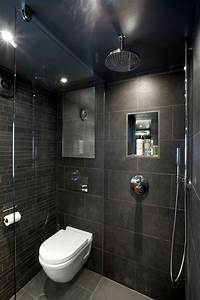 Toilette Mit Dusche : 1001 ideen und inspirationen f r moderne badezimmer badezimmer badezimmer schwarz und wc mit ~ Watch28wear.com Haus und Dekorationen