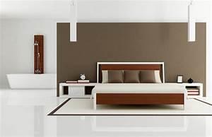 Modern minimalist bedroom and bathroom interior design ...