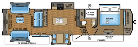 jayco fifth wheel floor plans 2018 2017 luxury fifth wheel floorplans prices