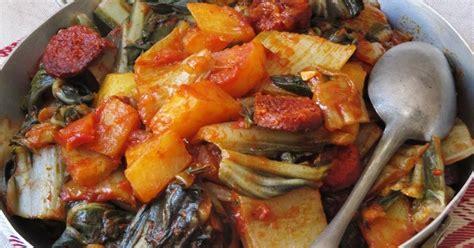cuisine blette la cuisine d 39 ici et d 39 isca blettes au chorizo et aux tomates