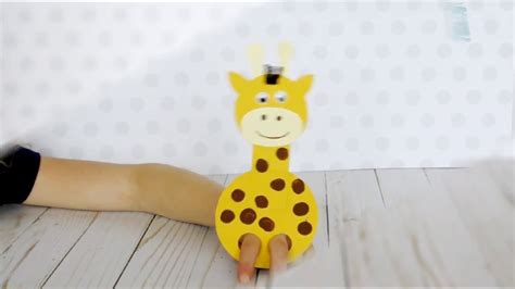 adorable giraffe finger puppets craft youtube