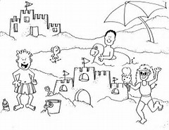 HD Wallpapers Coloring Book Pages Beach