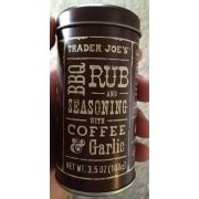 Olive oil as needed (i would say 3 tbsp.) directions: Trader Joe's Bbq Rub And Seasoning With Coffee Garlic: Calories, Nutrition Analysis & More ...
