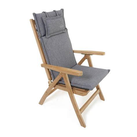 auflagen hochlehner grau premium stuhl hochlehner auflage polster hochlehner wetterfest grau grey ebay