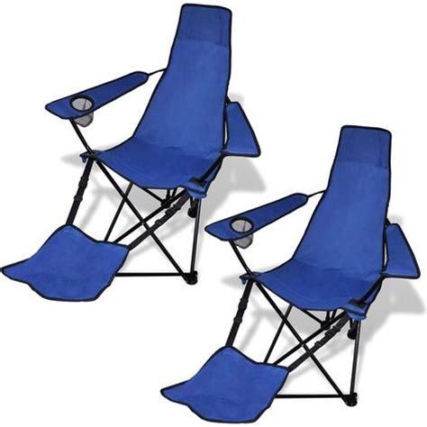 sport brella recliner chair light blue 2 pcs foldable cing chair with footrest blue garden
