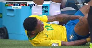 Watch Neymar react to suffering an apparent ankle injury ...