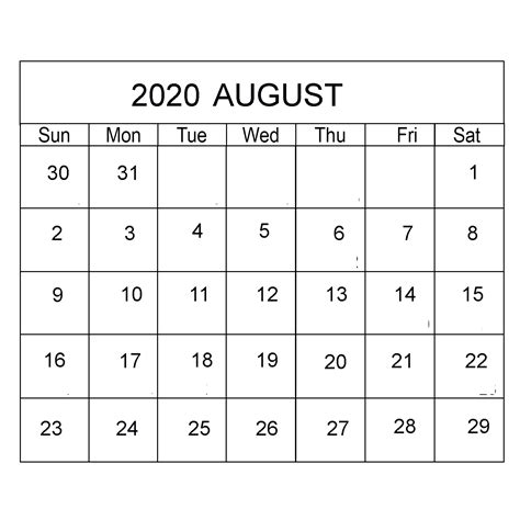 august  calendar archives  printable blank