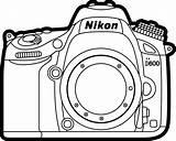 Camera Coloring Pages Camara Colouring Para Nikon Colorear Camaro Fotos Printable Imagen Foto Getcolorings Patrones Reflex Getdrawings sketch template