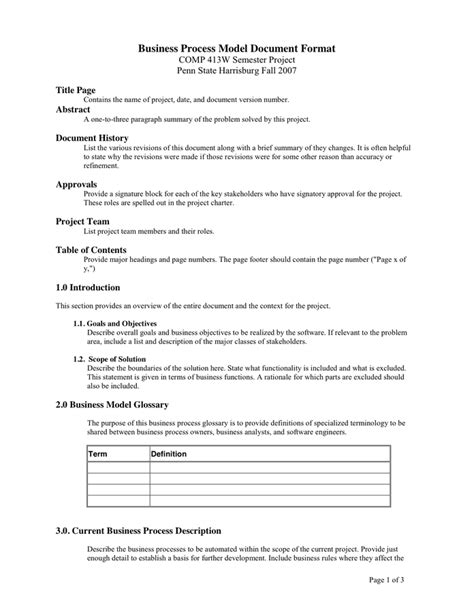 business model template   documents