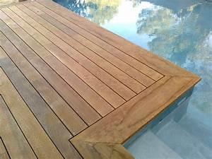 tour de piscine et margelle en ipe a bouc bel air With margelle en bois pour piscine