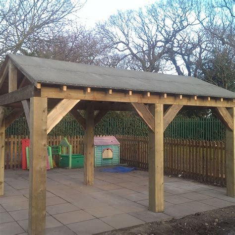 wooden garden shelter structure gazebo tub car