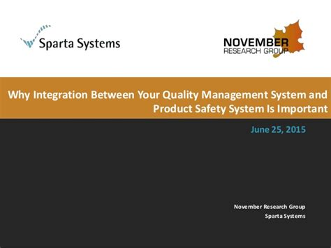 Why Integration Between Your Quality Management System And Product Sa…