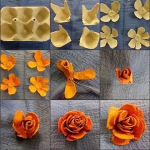 Rosen Aus Papier : rosen aus eierkarton bildanleitung blueme ~ Frokenaadalensverden.com Haus und Dekorationen