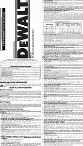 Dewalt Dw715 Type2 User Manual Miter Saw Manuals And