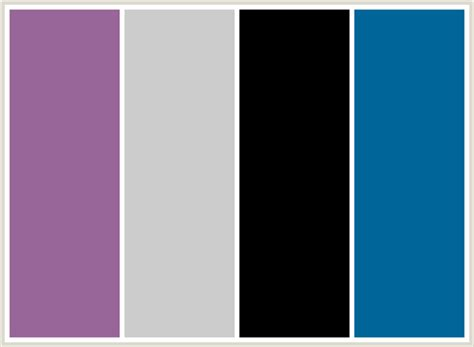 what colour scheme goes with grey colorcombo19 with hex colors 996699 cccccc 000000 006699