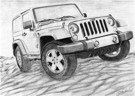 4 door jeep drawing jeep wrangler rubicon by lefrandi on deviantart