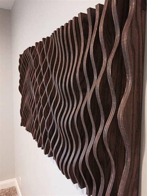 large wooden wall art parametric sculpture wood