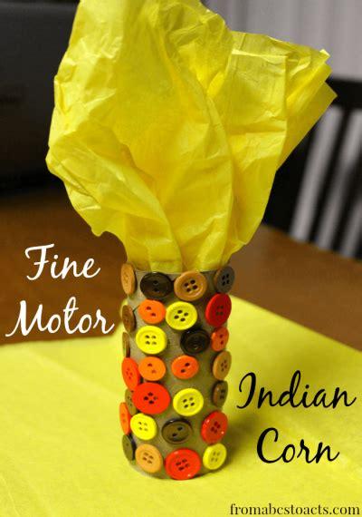 thanksgiving crafts  kids fine motor indian corn