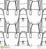 Pattern Handbag Seamless Coloring Stylish Elegant Messenger sketch template