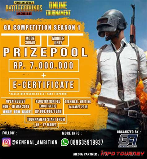 turnamen pubg mobile general ambition competition season