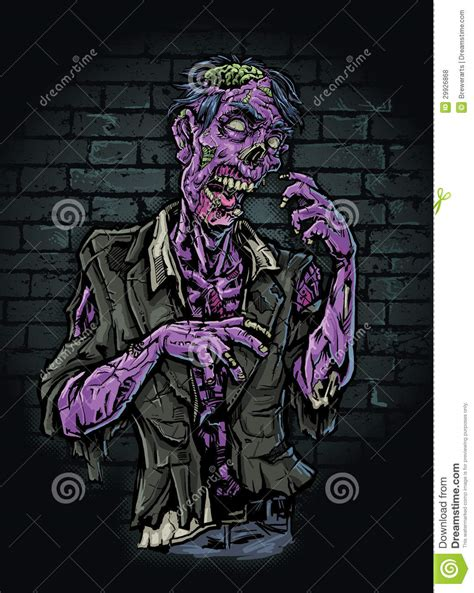 purple zombie stock vector image  color nightmare
