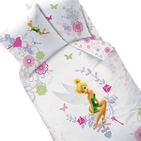 housse couette fee clochette housse de couette f 233 e clochette parure de lit disney fairies arabesque decokids tous leurs h 233 ros