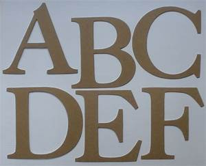 4quot elegant font large alphabet chipboard letters die for Large letter die cuts