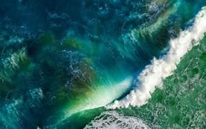 Wallpaper Waves, Sea, Ocean, Stock, iOS, Apple, HD, 5K ...