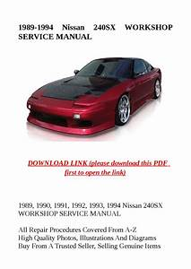 1989 1994 Nissan 240sx Workshop Service Manual By Zrbhtdryjun6