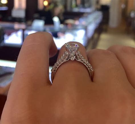 verragio solitaire engagement ring with diamond band