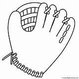 Coloring Glove Baseball Quiet sketch template