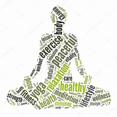 Being Well Health Concept Words Cloud Yoga