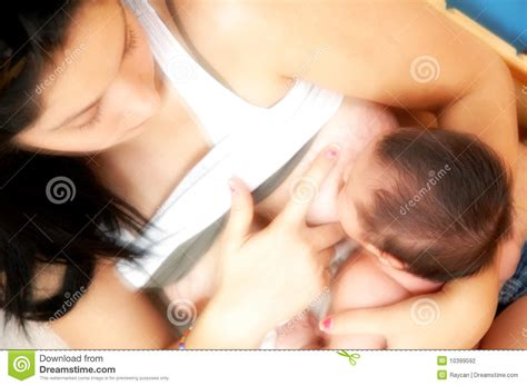 Teen Mother Breastfeeding Infant Stock Photography Image