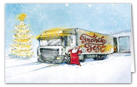 weihnachtsbranchenkarte fuer transportunternehmen und