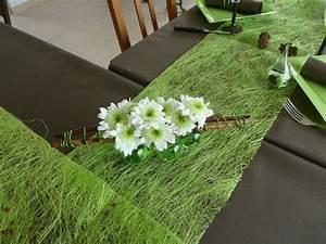 decoration vert meilleures images d39inspiration pour With chambre bébé design avec chemin de table fleuri mariage