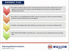 Comparison of Requirements of Various Flag States for