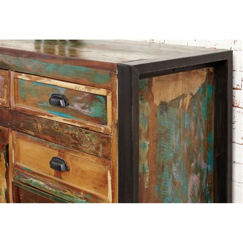 Indian Wood Sideboard by Chic Reclaimed Indian Wood Furniture Large Living