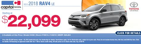 Capitol Toyota Salem by Purchase Or Lease A New Toyota Vehicle And Save Big